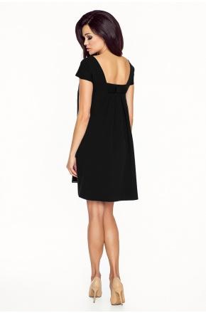 Trapezowa sukienka z kokardką km183
