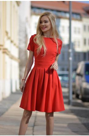 Ada - Rozkloszowana mini sukienka KM127-1