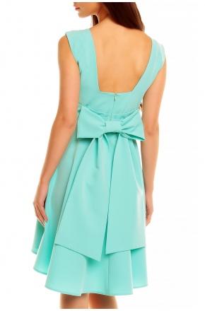 Sukienka z asymetrycznym dołem i kokardą KM142-2