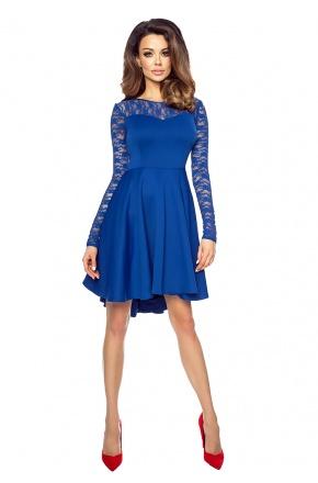 ♥Asymetryczna sukienka z koronkową górą KM168-2