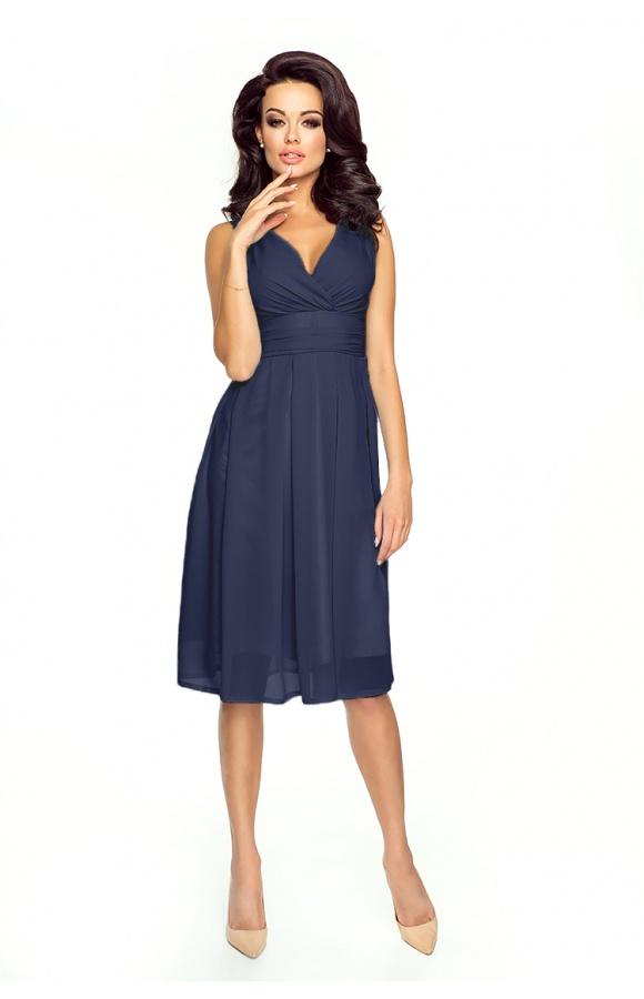 53355c5af4 Sukienka z szyfonu kopertowy dekolt NA WESELE Km117-11 GRANAT - ❤  Kartes-Moda ❤