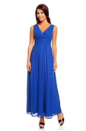 Chabrowa sukienka kopertowa maxi KM150-2PS