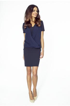 Klasyczna sukienka 2w1 KM217-3 GRANAT