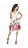 Wspaniała, letnia sukienka bez rękawów o długości do kolana.