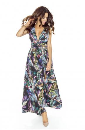 Zjawiskowa suknia w liście KM225-1