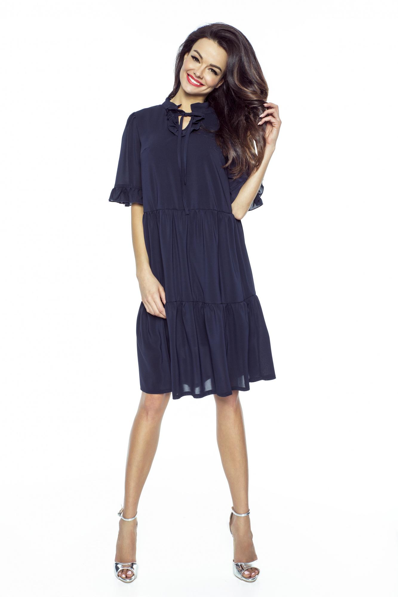 94d4182669aff8 Luźna sukienka z szyfonu boho km228-3 - ❤ Kartes-Moda ❤