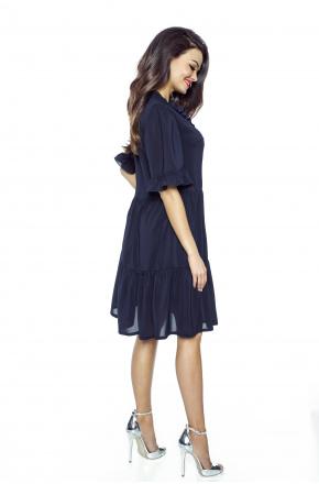 Luźna sukienka z szyfonu boho km228-3