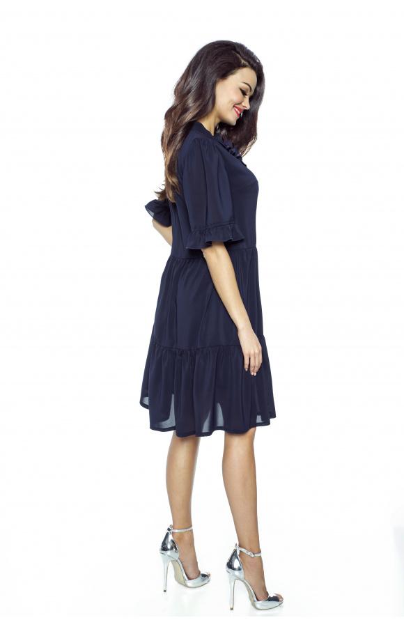 Lekka, luźna sukienka szyfonowa w stylu boho, doskonała na każdą okazję!