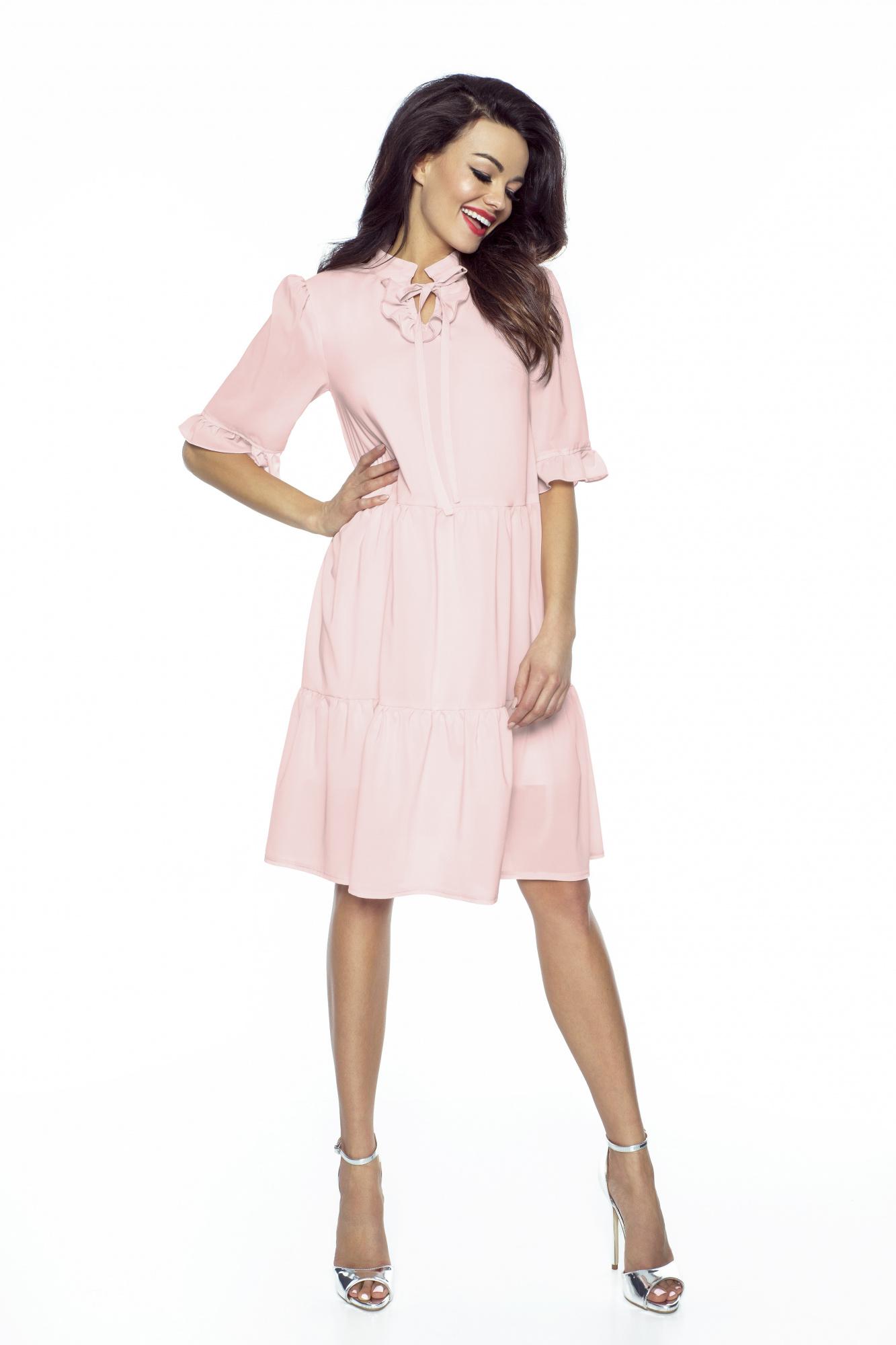 f1779ff7185191 Luźna sukienka z szyfonu boho km228-4 - ❤ Kartes-Moda ❤