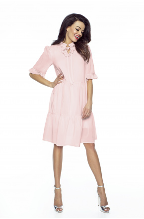 Luźna sukienka z szyfonu boho km228-4