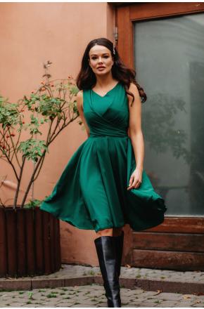 Sukienka Cudowna z szyfonu KM227-5 ZIELEŃ