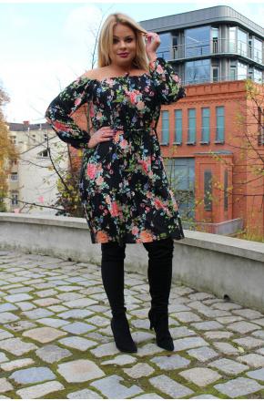 Sukienka w kwiaty boho km238ps