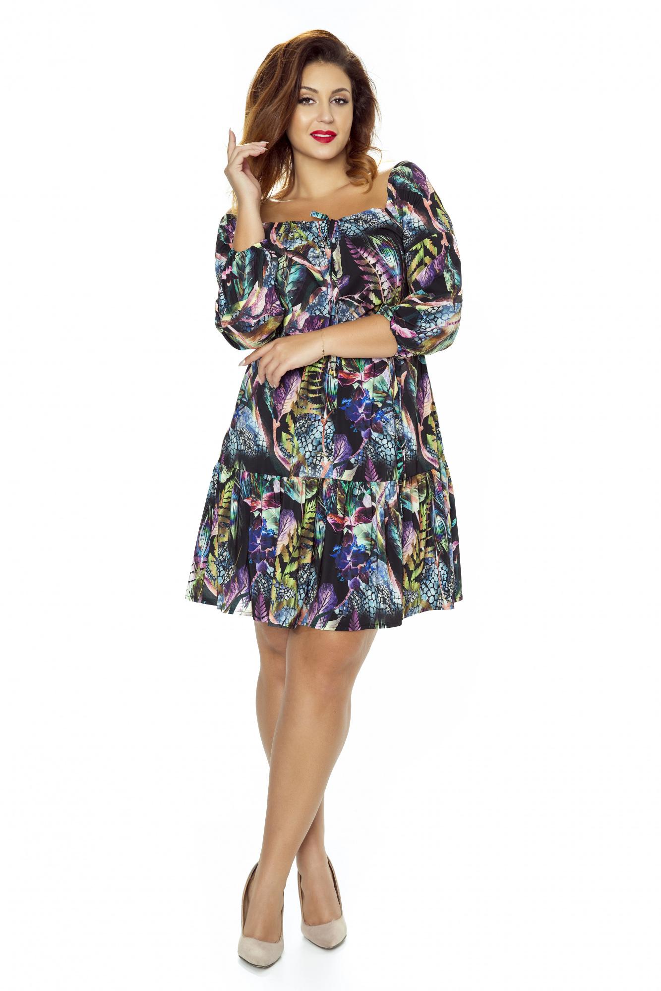 fceb6ad8 Sukienka oversize boho print km237ps - ❤ Kartes-Moda ❤