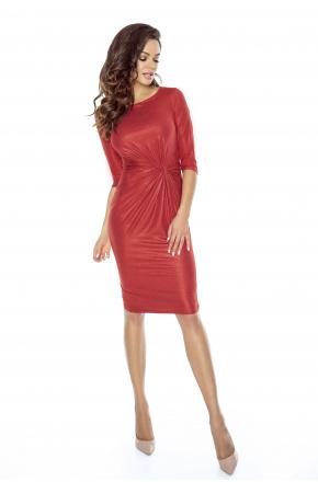 Wieczorowa sukienka z węzłem KM241-1