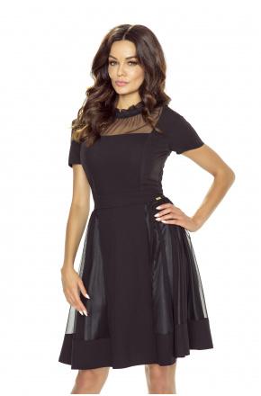 Wieczorowa sukienka z siateczką KM245