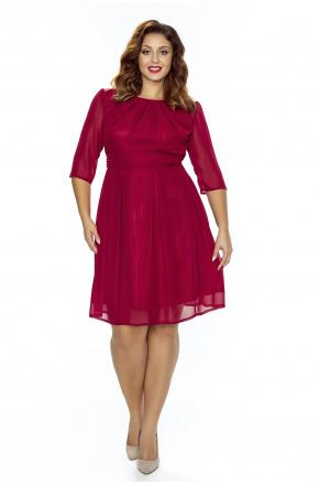 Koktajlowa sukienka z szyfonu km211-4ps