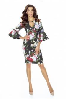 Czy sukienka w kwiaty wizualnie pogrubia?